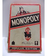 1954 Monopoly Game in Original Box  For Extra Parts  Wood Houses hotels ... - $12.38