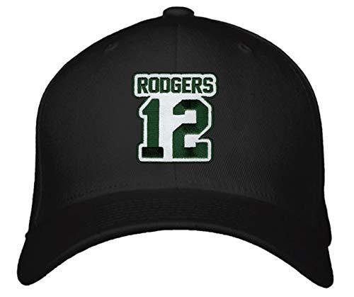Aaron Rodgers No. 12 Hat - Adjustable Unisex Black Football Cap