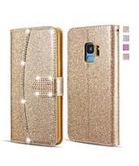 UEEBAI Wallet Flip Case for Huawei P9 Lite, Premium Glitter Glossy PU Le... - $11.14