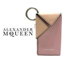 Alexander McQueen Autentico Pelle Chiave Case Rosa X Beige Nuovo Inutili... - $312.57