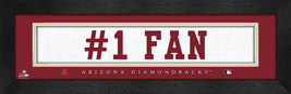 "Arizona Diamondbacks ""#1 Fan"" 8 x 24 Slogan Stitched Jersey Framed Print - $39.95"