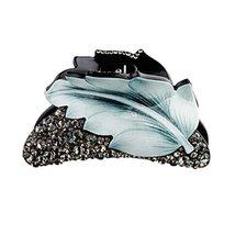 Ladies Hair Accessory Hair Clips Retro Hairpin Tuck Comb Hair Grip Leaf Blue - $27.91