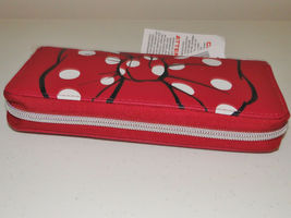 Disney Parks Minnie Mouse Bow Lg Wallet/ Wristlet NWT Pink image 8