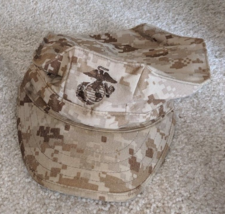 1 US Military Issue Marine Corps USMC 8 Point Desert Marpat Cover Hat Ca... - $14.99