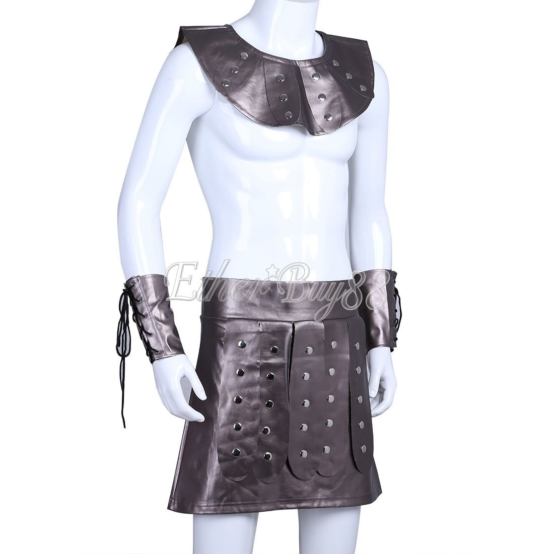 Men Faux Leather Roman Gladiator Costume Greek Soldier Warrior Fancy Dress Party  sc 1 st  Bonanza & Men Faux Leather Roman Gladiator Costume and 35 similar items
