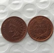 New Hobo Nickel 1877 Indian Head Penny Skull Skeleton Casted Coin - $11.39