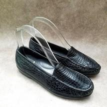 SAS Womens  2148806 Size 6 N Black  Leather Slip On Loafer Flats - $21.99