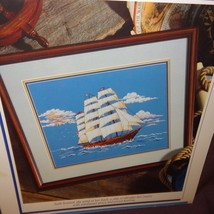 Homeward Bound Ship Cross Stitch Leaflet Book Color Charts 1991  Nautical Ocean - $10.99