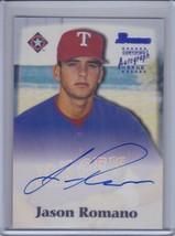 Jason Romano 2000 Bowman Autograph #Jr (B7581) - $3.56