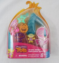 Dream Works Hasbro Trolls Tiny Smidge Mini Miette Flocked - $11.87