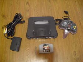 Nintendo 64 Charcoal Grey Console (NTSC) w/ namco museum - $89.09