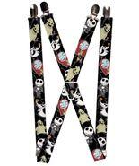Disney Nightmare Before Christmas Character Poses  Logo Suspenders  - $13.99