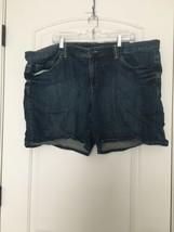 Tommy Hilfiger Women's Blue Denim Jean Shorts Sz 24 Blue - $56.73