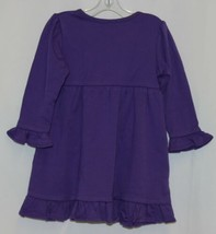 Blanks Boutique Purple Long Sleeve Empire Waist Ruffle Dress Size 18M image 2