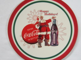 """Coca-Cola 8"""" Christmas Plate """"Happy Holidays!"""" - FREE SHIPPING - $13.85"""