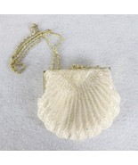 La Regale Ivory Sequin Beaded Evening Shell Shaped Purse - $34.64