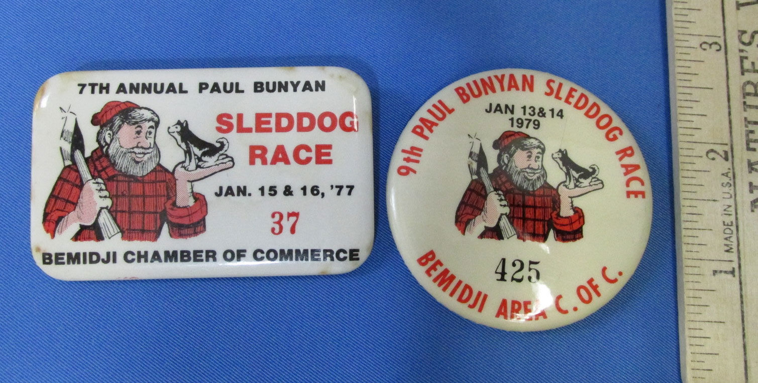 Lot of 10 Bemidji MN Memorabilia Paul Bunyan Button Pins Wood Beavers Lumberjack image 5
