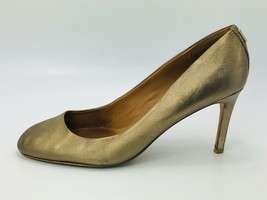 Coach Women's Rosey Pumps Metallic Gold Leather Size 10B - $39.59