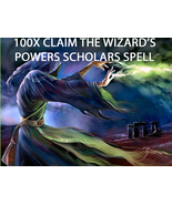 100X 7 SCHOLARS CLAIM THE WIZARD'S POWERS BLESSINGS  EXTREME MAGICK RING... - $177.77