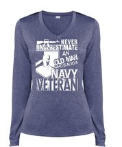 Old Man Who Is Also A Navy Veteran T Shirt, My Life Shirt (Ladies LS Hea... - $29.99+