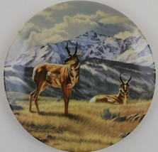 Below the Peak Antelope Paul Krapf Portrait of the Wild #6 Plate Bradford  - $29.70