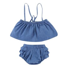 2pcs Baby Girls Clothes Set Newborn Infant Cotton Tank Tops+Shorts Suit-... - $13.20