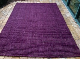 Safavieh Jute Barbados Flat Weave Thick  Purple  Hand Made Rug 6 x 9 - $296.01