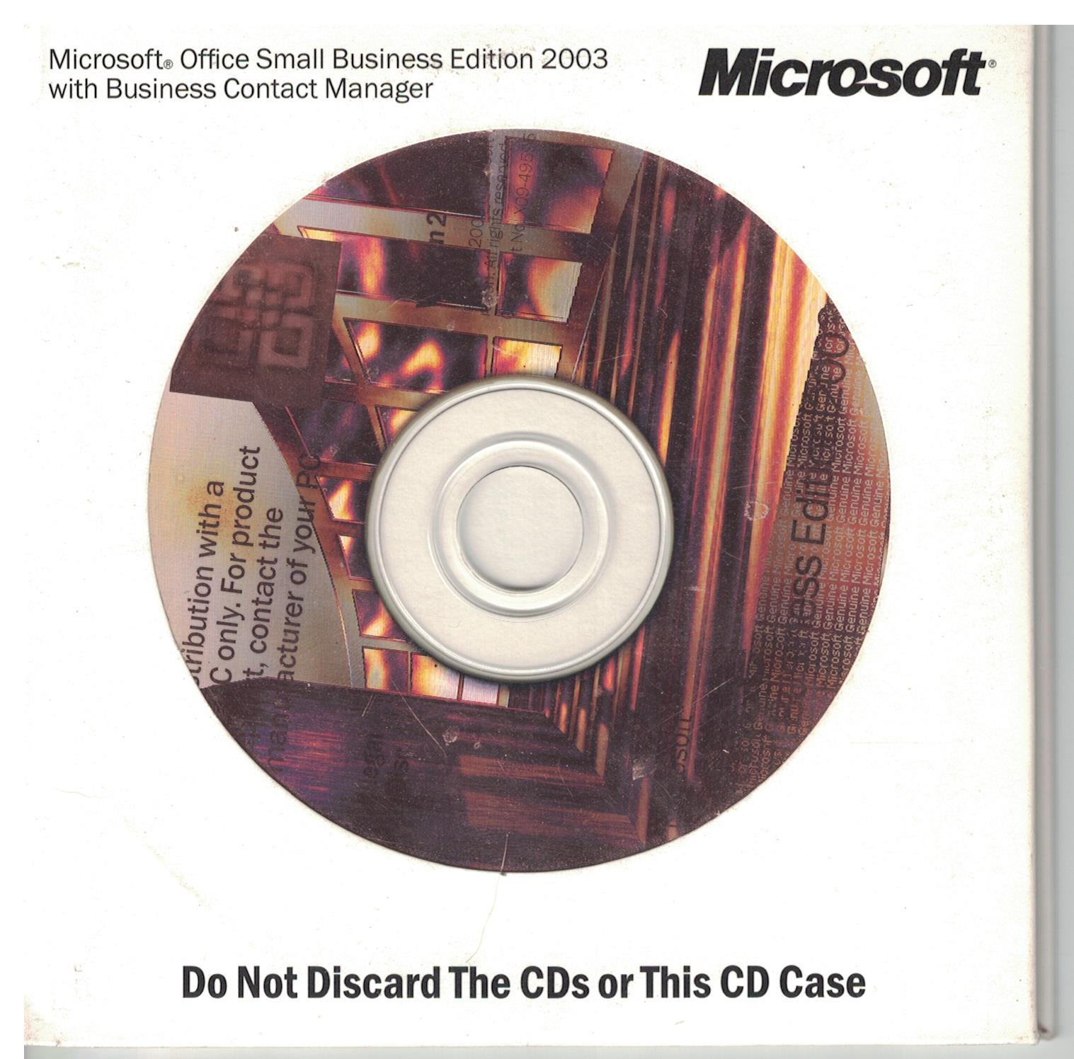 Primary image for Microsoft Office Small Business Edition 2003 with Business Contact Manager w/key