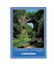 """PICTURE POSTCARD- """"NATURAL BRIDGE"""" VIRGINIA -CARVED THROUGH AGES BY CREE... - $1.94"""