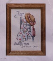 "Creative Circle Cross Stitch Kit Mom Mother Always Near- Forever Dear 5""... - $14.99"
