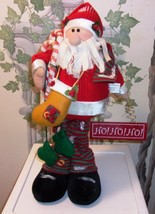 "Christmas Santa 18"" Standing Plush Decoration - $15.95"