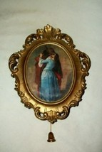 VINTAGE WALL HUNG MUSIC BOX WEST GERMANY PRINCESS GES GESCH SATIN MID CE... - $33.24