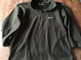 Nike vintage fleece pullover Green  L large Made In USA rare - $21.37