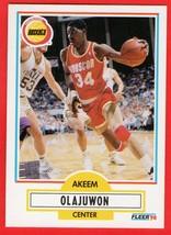 1990 Fleer #73 Hakeem Olajuwon HOF basketball card - $0.01