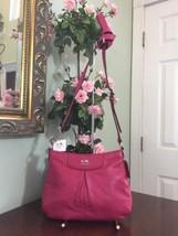 New Coach Madison Crossbody Bag Madison Pebbled Leather 47261 Fuchsia Pi... - $96.30