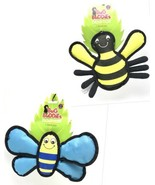 Dog Toy Bug Buddies Durable Plush Chew Squeaker Choose Insect Type New - $7.99