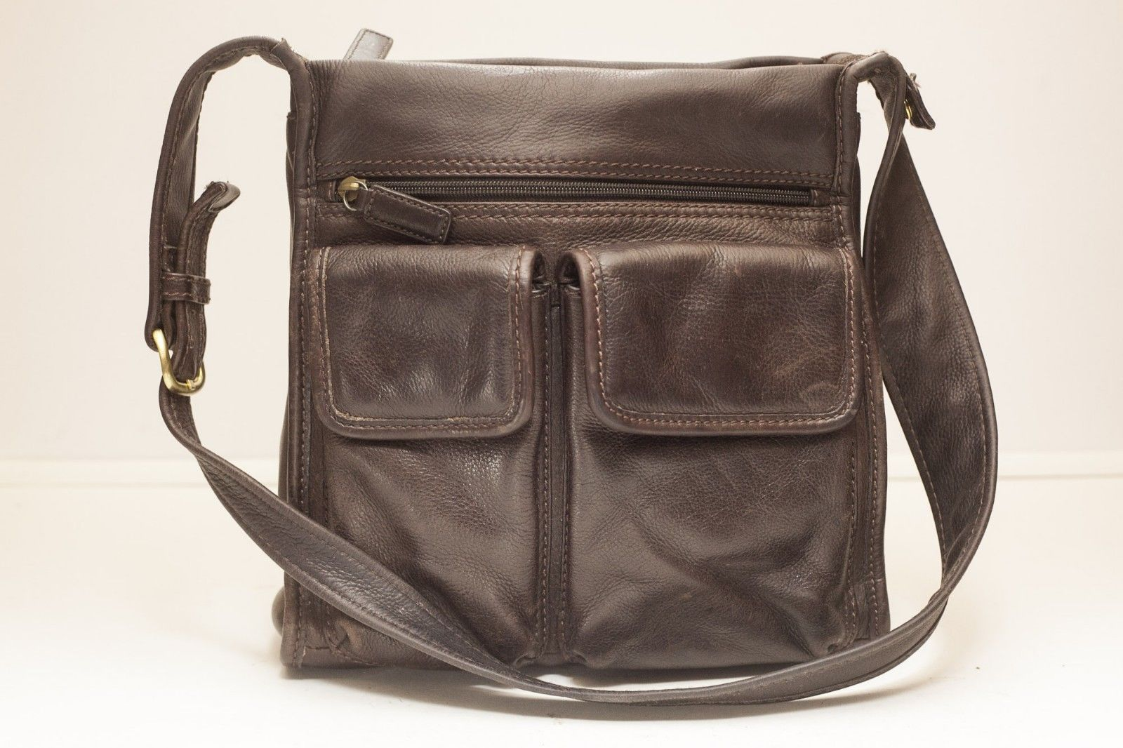 Fossil Handbag Brown Leather 75082