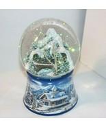 Winter Train Snow Glitter Globe MUSICAL KURT ADLER Joy To The World Pine... - $48.46