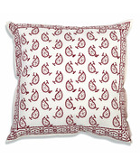 Farmhouse ARLO COTTON THROW PILLOW Country Red White Abstract Sofa Cushi... - £28.34 GBP