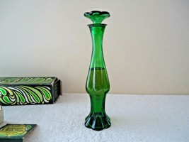 "Vtg. Avon Emerald Bud Vase Unforgettable Cologne "" IOB "" BEAUTIFUL COLLE... - $19.99"