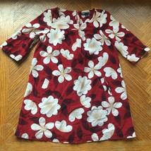 Gap Kids XS Fine Corduroy Burgundy Red White Gardenia Flowers Floral Print - $24.99