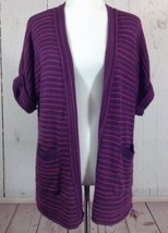 Silence + Noise Urban Outfitters Sz Small Purple Striped Open Cardigan S... - $15.37