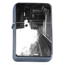 Vintage Train Stations D6 Windproof Dual Flame Torch Lighter Refillable Retro - $12.82