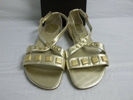 Cole Haan Size 7.5 M Air Hadley Leather Soft Gold Sandals New Womens Shoes - $88.11