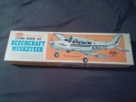 Vintage Guillow's Beechcraft Musketeer Plane Model Kit 308 Balsa Wood Ga... - $24.74
