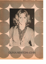 Olivia Newton John teen magazine pinup clipping smaller picture 1970's