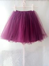 PLUM PURPLE flower girl Mini Tutu Skirt Baby Tutu Skirts Many colors NWT image 5