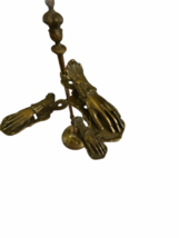 """Antique Desk Brass Victorian Hand Stand Letter Note Photo Recipe Holder 15"""" tall image 5"""