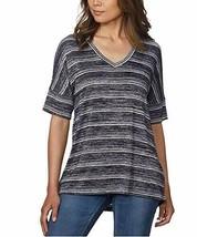 Calvin Klein Jeans Women's V-Neck Stripe Short Sleeve Tee (Peacoat, X-Sm... - $32.92