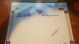 Bob Feller Mickey Vernon & Herb Score 3 Autographs With COA - $12.38